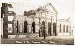 Juarez Ruins Of Post Office 1917 Real Photo Postcard - Mexico