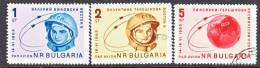 Bulgaria  C 99-101   (o)  SPACE - Airmail