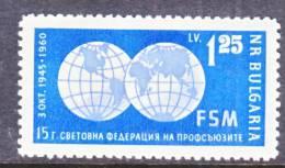 Bulgaria  1125   *  TRADE UNION - Bulgaria