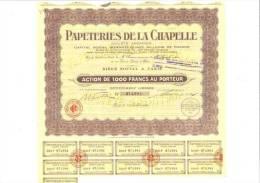 Papeteries De La Chapelle 28 Juillet 1939 - Other