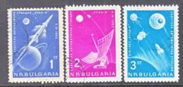 Bulgaria  1278-80   (o)  SPACE  MOON  LUNIK 4 - Bulgaria