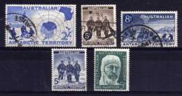 Australian Antarctic Territory - 1957/61 - 5 Different Stamps - Used - Oblitérés