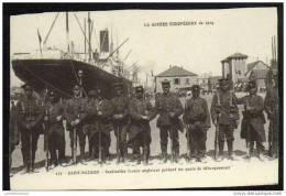 44 - SAINT NAZAIRE - SENTINELLES FRANCO ANGLAISES GARDANT LES QUAIS DE DEBARQUEMENT - Saint Nazaire