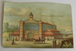 Chromo Exposition Universelle Paris 1878 - GARE Du CHEMIN De FER - Train Calèche - Artis Historia
