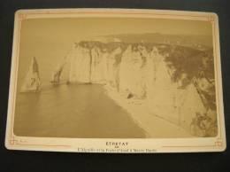 Photo -photographie -ref 123- Etretat -l Aiguille Et La Porte D Aval  -seine Maritime -la Plage - Photo Bon Etat- - Photographs