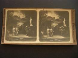 Photo -photographie -stereo -ref 101- Spectacles - Theatre - Faust - Stereo Bon Etat  - - Photos Stéréoscopiques