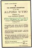 Doodsprentje Alfons WYBO - BRUGGE 1849 - 1931 - Images Religieuses