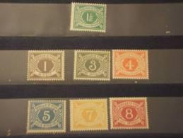 IRLANDA - TASSE 1971 CIFRA 7 Valori - NUOVI(++) - Segnatasse