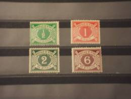 IRLANDA - TASSE 1925 CIFRA 4 Valori - NUOVI(+/++) - Segnatasse
