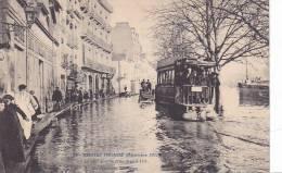 20784 NANTES - LE PASSAGE DU TRAMWAY AU QUAI DES TANNEURS - INONDé - DECEMBRE 1910 -28 Vasselier - Nantes