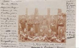 20788 Carte Photo Rennes (35 France) 1902 -équipe  Football -  Entraineur Club Sport Champion De Bretagne - Rennes