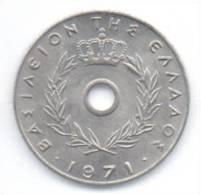GRECIA 10 LEPTA 1971 - Grecia