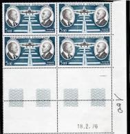 France Bloc De 4 Timbres PA Coin Daté N°46 - 1940-1949