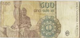 Romania / 500 Lei - 1991 / Circulated - Romania