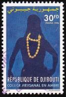 Timbre Oblitéré - Collier En Ambre - N° 719GD (Yvert) - N° 623 (Michel) - République De Djibouti 1996 - Djibouti (1977-...)