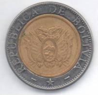 BOLIVIA 5 BOLIVIANOS 2004 BIMETALLICA - Bolivia