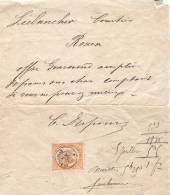 TELEGRAMME COMPLET DE 1870. Timbre AIGLE N°7.    Tél.N°5 - Telegraph And Telephone