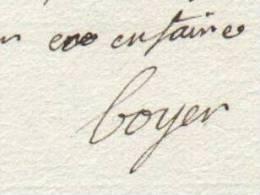 ARMEE DES ALPES Général Baron BOYER à D'ORNAC Grenoble 1793 Guerres Révolution Autographe - Documents Historiques