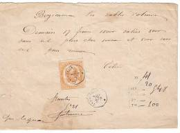 TELEGRAMME COMPLET DE 1870. Aigle N°7.     LOT TEL9 - Telegraph And Telephone