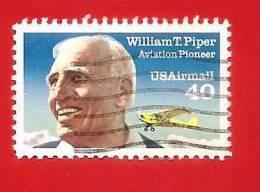 STATI UNITI - USA - 1991 - USATO - USAirmail -  William T.Piper - Aviation Pioneer - 40 Cent. - Stati Uniti