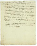 ARMEE DU MIDI 1792 Général D'ORNAC Autographe Gounon 4e Regiment D'artillerie BOURGOIN Bonaparte Napoléon - Documents Historiques