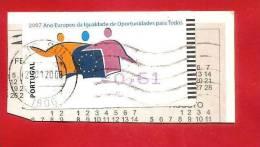 PORTOGALLO - ATM LABEL - 2007 - ANO EUROPEU DE IGUALDADE DE OPORTUNIDADES PARA TODOS - € 0,61 - Vignette Di Affrancatura (ATM/Frama)