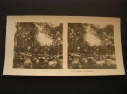 Photo -photographie -vue Stéréoscopique -stereo- Ref 27- Guerre 1914-18- Militaires Militaria - Theatre En Plein Air - - Photos Stéréoscopiques
