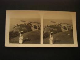 Photo -photographie -vue Stéréoscopique -stereo- Ref 26- Biarritz -vue Prise De L Attalaye -le Rocher De La Vierge - - Photos Stéréoscopiques