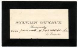 Carte de f�licitations autographe de Sylvain Guyaux, bourgmestre de La Louv�re de 1904 � 1918 (16 avril 1914)