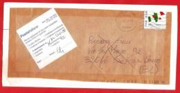 ITALIA REPUBBLICA - BUSTA AFFRANCATA CON ETICHETTA RITORNO AL MITTENTE - 150° UNITA' ITALIA - € 0,60 - S. 3212 - 6. 1946-.. Repubblica