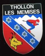 THOLLON LES MEMISES   AUTOCOLLANT ADHESIF BLASON - Autocollants
