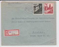 POLOGNE (GOUVERNEMENT GENERAL) - 1940 - ENVELOPPE RECOMMANDEE De WIELICZKA Pour CRACOVIE - Gobierno General