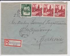 POLOGNE (GOUVERNEMENT GENERAL) - 1941 - ENVELOPPE RECOMMANDEE De BRZESKO Pour CRACOVIE - 1939-44: 2. WK