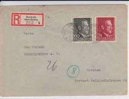 POLOGNE (GOUVERNEMENT GENERAL) - 1944 - ENVELOPPE RECOMMANDEE De BOCHNIA Pour BRESLAU - 1939-44: 2. WK