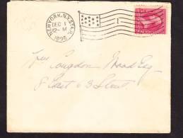 O)  1896 USA, PRESIDENT GEORGE WASHINTONG FLAG STRIKE,DOMESTIC USE - 1847-99 Unionsausgaben