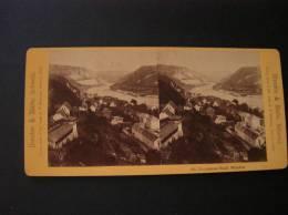 Photo -photographie -vue Stéréoscopique -stereo- Ref08-dresden Et Sachs -schweiz -suisse -panorama Stadt Wehlen  - - Photos Stéréoscopiques