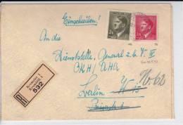 BÖHMEN UND MÄHREN - 1943 - ENVELOPPE RECOMMANDEE De KREMSIER - HITLER - - Lettres & Documents