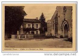 86 - ROMAGNE - L´EGLISE ET LE MONUMENT AUX MORTS - France