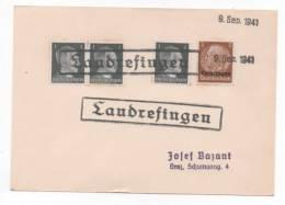 Lot 790: Cachet Provisoire Loudrefingen (Loudrefing) Sur TP Allemand Surchargé Lothringen Du 09.09.1941 - Alsace-Lorraine