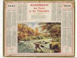ALMANACH  DES POSTES ET DES TELEGRAPHES(   1942)  Suisse Normande - Calendriers