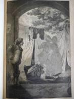 L´ombre D´un Baiser , érotique , Gravure Sur Bois De 1893 - Historical Documents