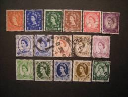 G.B. 1958-60, N. 327/41, Lot 16 V., Fine Used - 1952-.... (Elisabeth II.)
