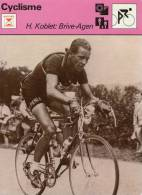 SPORTS *** CYCLISME  **  H.KOBLET - Sport