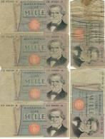 LOT -  Billet De Banque ITALIEN - 1000 Lire - 6 Exemplaires          (2581) - [ 2] 1946-… : République
