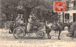 Paris Moderne - Les Femmes Cocher, Au Bois, Un Jour De Bombe - Straßenhandel Und Kleingewerbe