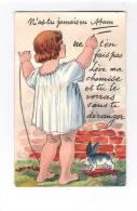 80 HAM - Carte à Système Dépliant 10 Vues Période Guerre 1914 GARE PROVISOIRE Char Statue Cimetière FILLETTE Jouet Lapin - Ham