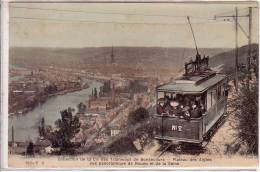 TRAMWAY DE BONSECOURS.PLATEAU DES AIGLES.VUE DE ROUEN. - Rouen