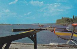 Lac La Ronge Airfield /airport , LA RONGE , Saskatchewan , Canada , 1950-60s ; Float Plane Docking Area - Saskatchewan