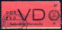 DDR 1965 Official: Vertrauliche Dienstsache Label, Used.  Michel 1A  Cat. €55 - [6] Democratic Republic
