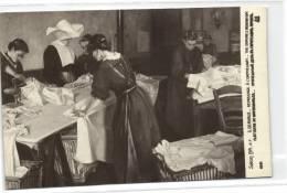 1 Postcard  France Dep   Salon 1914 Repassage A L Orhelinat - Paintings